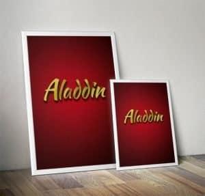Aladdin Pantomime Poster Mockup