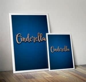 Cinderella Pantomime Poster Mockup