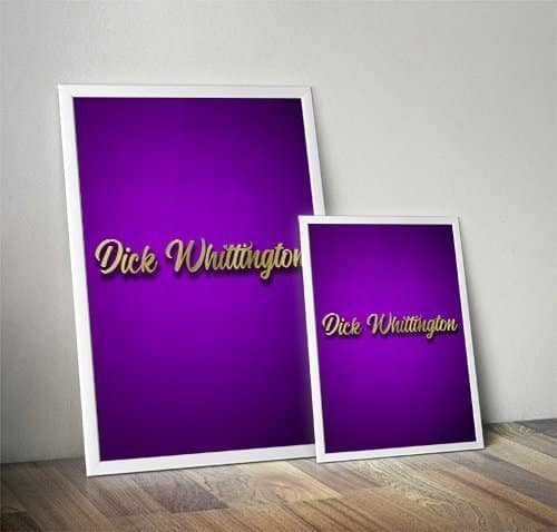 Dick Whittington Pantomime Poster Mock Up