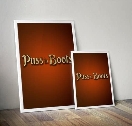 Puss in Boots Pantomime Poster Mockup