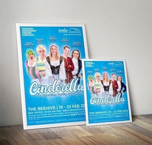 Cinderella Honiton Pantomime Poster Artwork
