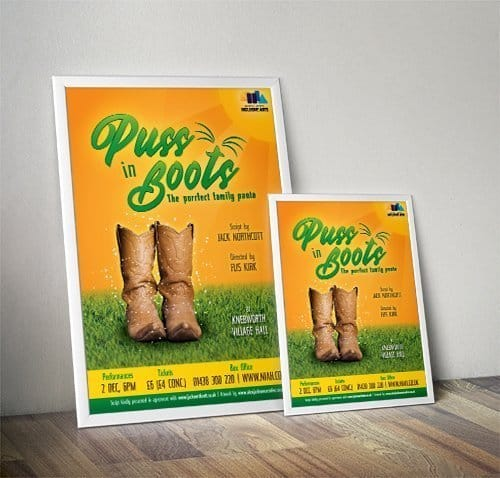 Puss In Boots Pantomime Poster